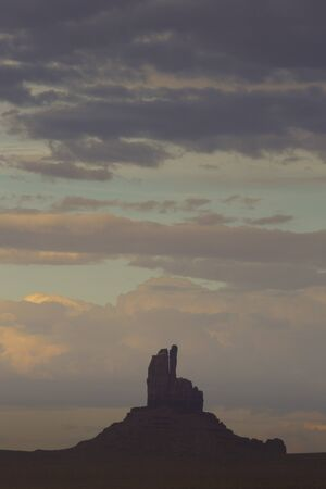 monument valley view: View of monument valley late afternoon Stock Photo