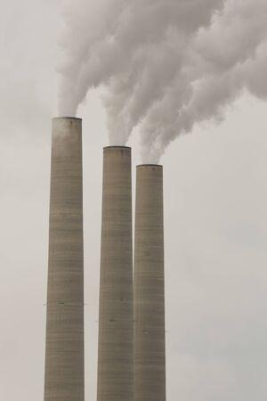 generating station: Industrial chimneys at Navajo Generating Station in the Arizona.