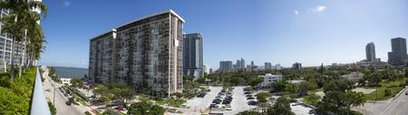Panoramic skyline of downtown Miami, Florida.
