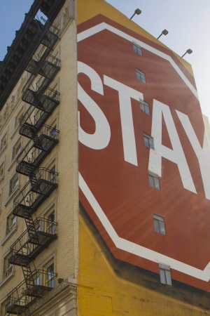 indecisiveness: Sign saying stay in the street of San Francisco, California