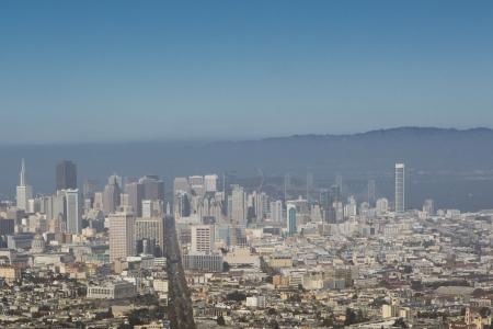 San Francisco, panoramic view of the Mission District