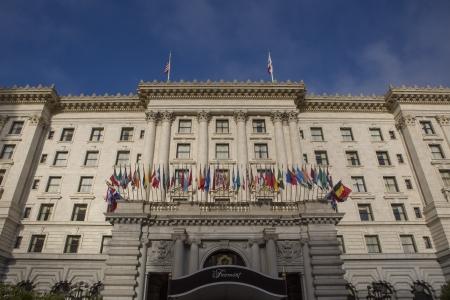 The Fairmont San Francisco Hotel - ein Luxus-Hotel oben auf dem Nob Hill Standard-Bild - 17522295