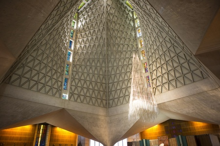 saint mary: Inside the modern Cathedral of Saint Mary of the Assumption, also known as Saint Marys Cathedral in San Francisco