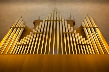 Church organ pipes in the Cathedral of Saint Mary, San Francisco