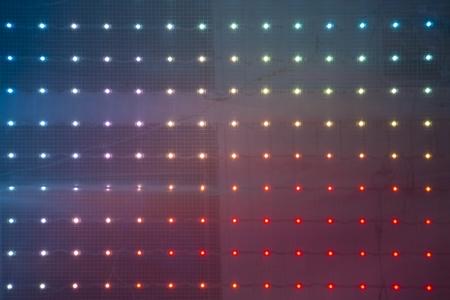 빛 LED의 배경은 밤에 표시