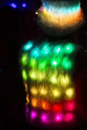 Background of light LED displayed at night Stock Photo - 17519557