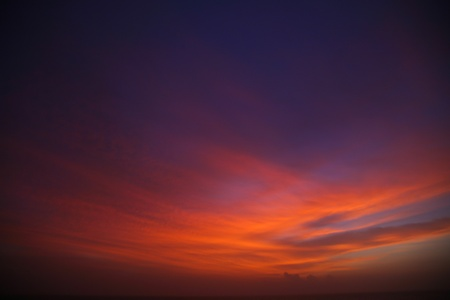 A dramatic and  beautiful sunset in Kerala on the arabic sea photo