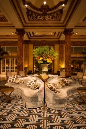 캘리포니아, 샌프란시스코, 8 월 26 일 : 2012 년 밤에 샌프란시스코 인테리어 페어 몬트 호텔의 상세 정보
