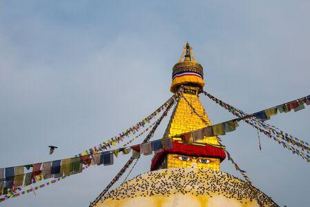 stupa one: Boudhanath Stupa, one of the main landmark in Kathmandu, Nepal Editorial