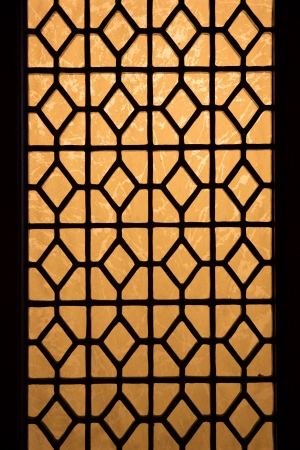 diagonals: Chinese stained glass window
