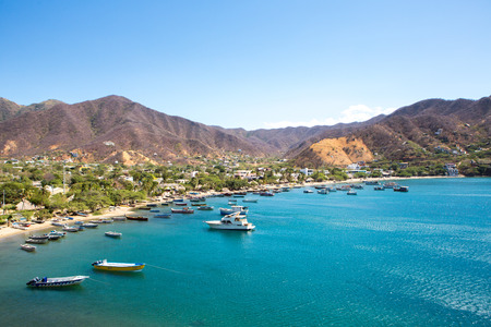 Taganga Bay with the traditional fishing boats, Colombia 2014