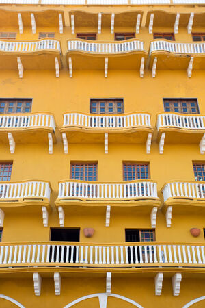 Spanish colonial house. Cartagena de Indias, Colombias Caribbean Zone.