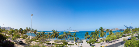 marta: SANTA MARTA, COLOMBIA, JANUARY 23: Panorama of the bay of Santa Marta with the port in the background, Colombia 2014.