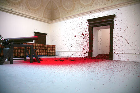 anish: LONDON, ENGLAND, OCTOBER 17: Anish Kapoor exhibition called Shooting into the Corner at the Royal Academy of Art. London, England 2009