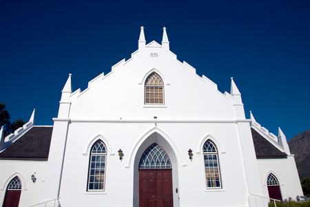 Colonial architecture in Franschhoek near Cape Town