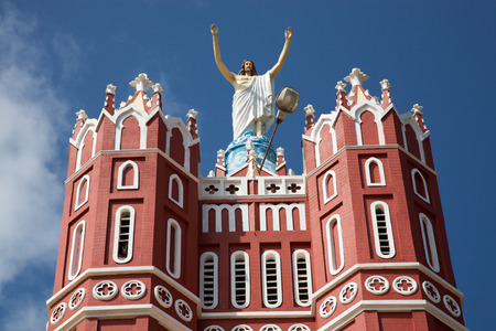 varkala: St Joseph's Metropolitan Cathedral, Palayam, Trivandrum, is the Cathedral Church of the Latin Archdiocese of Trivandrum, india, 2010 Stock Photo