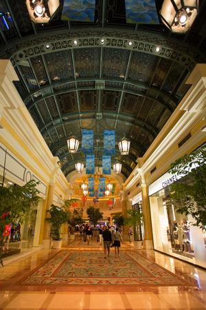 LAS VEGAS, NV, SEPTEMBER 12: The Bellagio Casino hallway with luxury shops - Las Vegas, Unites States 2012