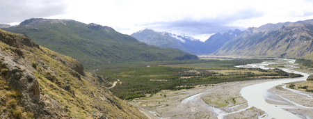chalten: Panoramic View of Los Glaciares National Park, El Chalten, Argentina.
