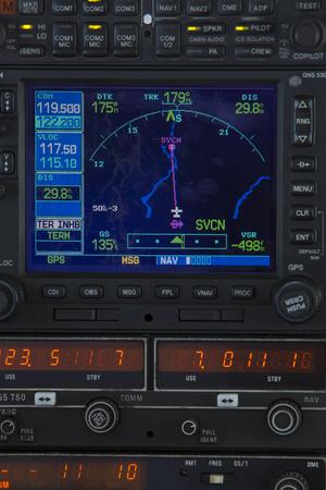 panel de control: Cierre de sistema de navegación de un avión de cabina pequeña en Venezuela.