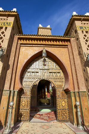 berber: Close to Marrakesh, beautiful riad with mosaic and carpets Editorial