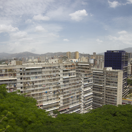 massive: Massive residential building in downtown of Caracas. Venezuela Stock Photo