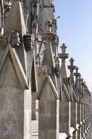 The Basilica del Voto Nacional is a Roman Catholic Church in Quito, Ecuador. This is the largest Neo-Gothic basilica in the Americas. Quito, Ecuador 2015