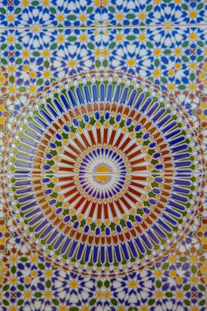 mosaic floor: Nice detail of an islamic mosaic floor showing the beauty of Islamic art.