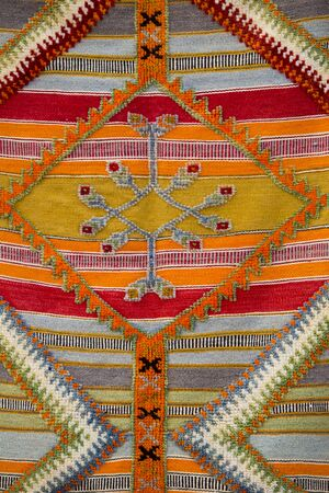 northern african: Colourful african moroccan style rug surface close up. Berber style from the Northern Morocco.