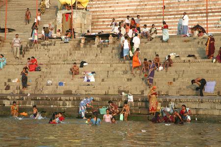 darren: VARANASI, INDIA, JUNE 1: Unidentified Hindu pilgrims take bath and pray in the holy water of Ganges river on June 1, 2009 at Varanasi, Uttar Pradesh, India.