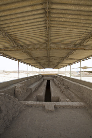 apogee: Remains of the archeological city of Chan Chan in Trujillo. Peru. The city used to be the capital of the Chimu Kingdom which reached its apogee in the 15th Century.  Editorial