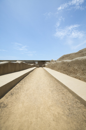 apogee: Remains of the archeological city of Chan Chan in Trujillo. Peru. The city used to be the capital of the Chimu Kingdom which reached its apogee in the 15th Century.