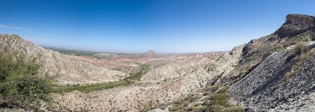 large formation: Panorama of Moon Valley (Valle de la Luna), Ischigualasto National Park, San Juan, UNESCO work heritage site., Argentina
