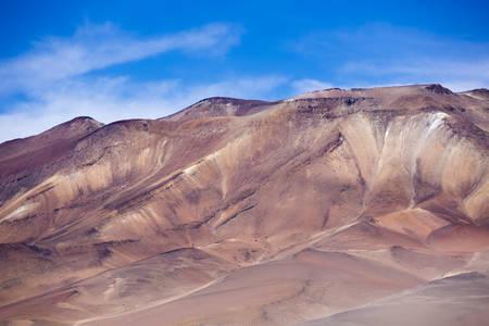 avaroa: Colored mountains in the Atacama desert with blue sky in Eduardo Avaroa Andean Fauna National Reserve, Bolivia Stock Photo