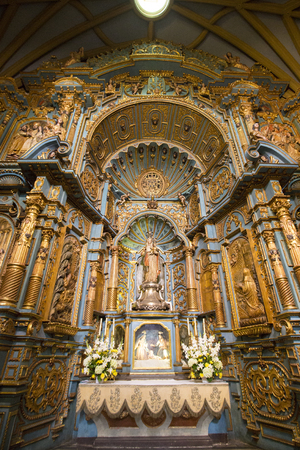 plaza de armas: Baroque interior of the cathedral on the Plaza de Armas in Lima. Peru 2015 Editorial