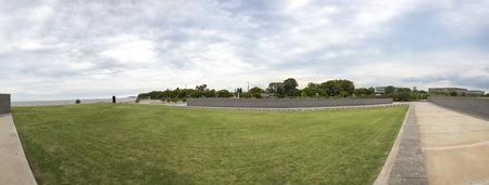 dictatorship: BUENOS AIRES, ARGENTINA, NOVEMBER 20: Details of the wall from the Parque de la Memoria in Buenos Aires, (Memory Park) memorial monument to the victims of the military dictatorship. Argentina 2015