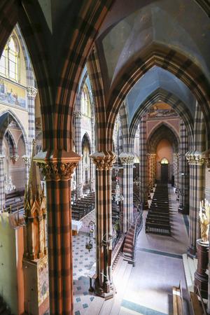 corazon: Colored interior of the Capuchins Church (Iglesia del Asacrado Corazon) in the center of Cordoba. Argentina