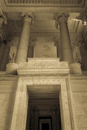 subpoena: Palais de Justice, national courtroom in Brussels, Belgium 2012 Editorial