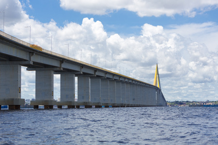 bridging: The Manaus-Iranduba Bridge (called Ponte Rio Negro in Brazil) is a bridge over the Rio Negro with 3595 meters of length that links the cities of Manaus and Iranduba. It was opened on Oct 24, 2011