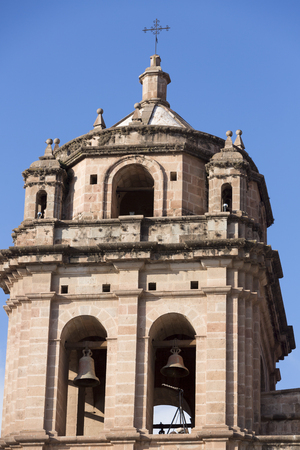 iglesia de la compania: Tower of the historic Iglesia de la Compania in Cusco. Peru. The church dates back to 1571 and sits on top of an old Inca Palace. Editorial