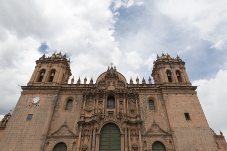 iglesia de la compania: Historic Iglesia de la Compania in Cuzco. Peru. The church dates back to 1571 and sits on top of an old Inca Palace. Peru 2015