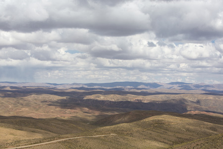 lipez: Andean Mountains in the Altiplano with cloudy sky. Bolivia