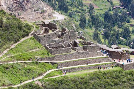 pisac: Inca ruins of Pisac in the sacred valley in the Peruvian Andes near Cusco. Peru