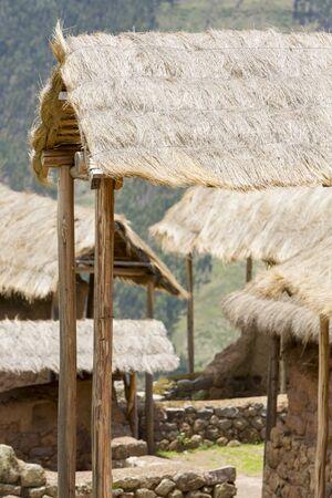 pisaq: Details of Inca ruins of Pisac in the sacred valley in the Peruvian Andes near Cusco. Peru