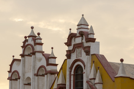 colonial church: Details of historic colonial church in the Spanish colonial city of Trujillo, Peru