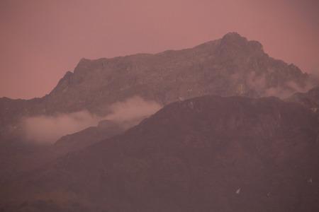 Szenischer Sonnenuntergang Der Berge Von Merida Mit Klarem Blauem