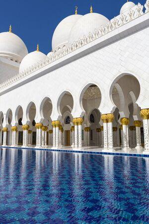 touristic: Abu Dhabi Sheikh Zayed White Grand Mosque, United Emirates Arab