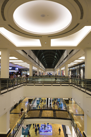 mall of the emirates: Interior and wide arched roof in Mall of the Emirates in Dubai downtown. United Arab Emirates in 2016