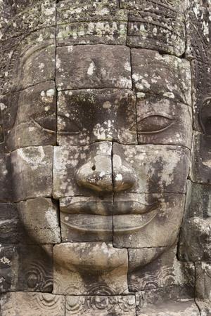 prasat bayon: Wall Carving at Prasat Bayon Temple In Angkor Thom. Angkor Wat Complex. Khmer Culture and famous landmark. Ornament Background.