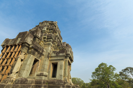 Restored Keo Temple in Angkor, in Siem Reap Province. Stock Photo