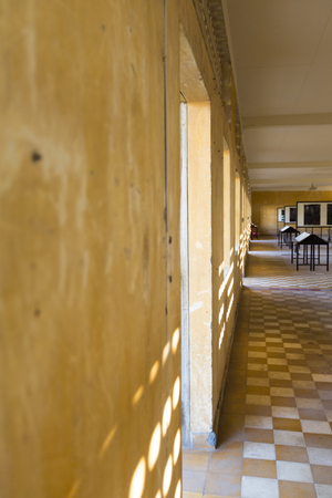 war crimes: Interior of Tuol Sleng prison in Phnom Penh, Cambodia. This building was a concentration camp during the Cambodian genocide under the Khmer Rouge